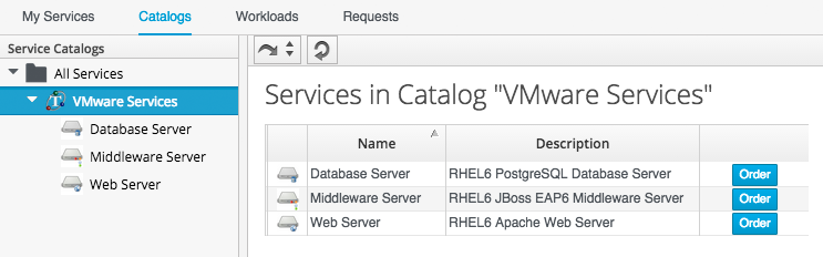 Example - Creating a Service Catalog Bundle · CloudForms ...
