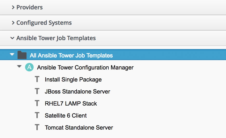 Automation using ansible mastering automation in cloudforms 41 ansible job templates visible in cloudforms maxwellsz