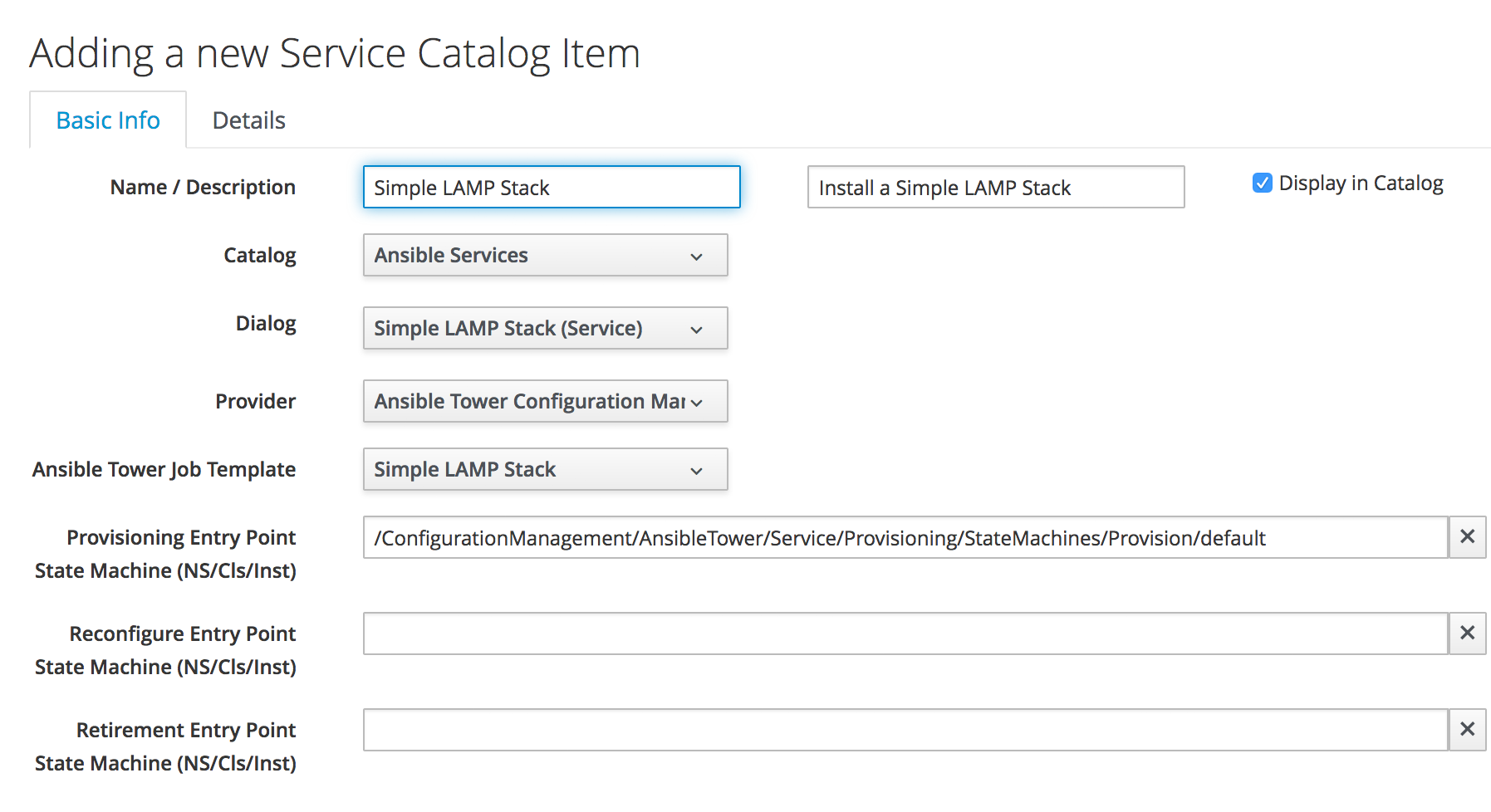 Creating an Ansible Tower Service Catalog Item and Bundle ...